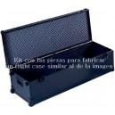 Kit para fabricar un flight case Black Edition pequeño