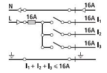 Conexión carril monofasico